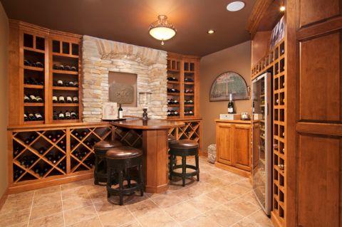 酒窖酒窖美式风格装修设计图片