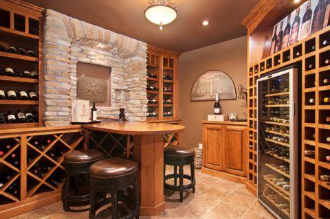 客厅酒窖美式风格装修效果图