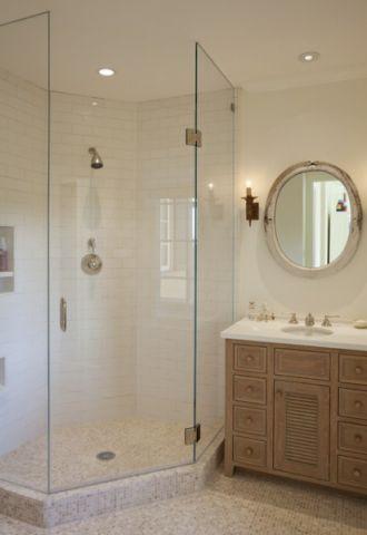 卫生间咖啡色橱柜美式风格效果图