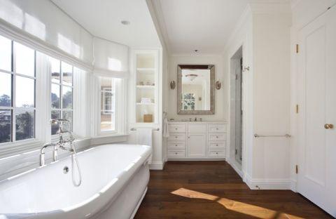 卫生间白色背景墙美式风格装饰效果图