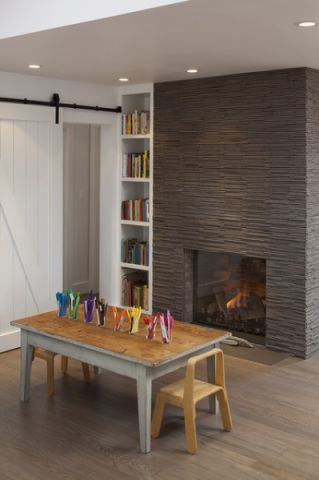 儿童房灰色背景墙美式风格效果图