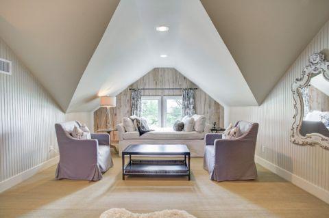 卧室白色背景墙美式风格装饰图片