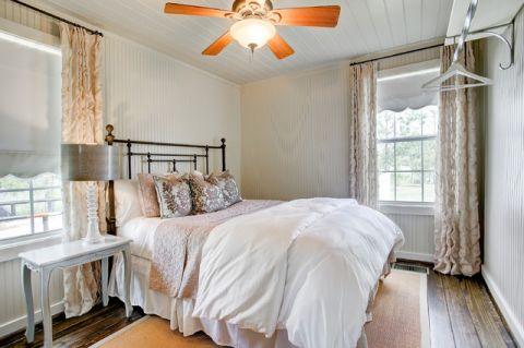 卧室白色榻榻米美式风格装潢图片