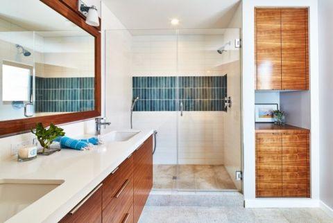 休闲质感简欧风格浴室装修效果图