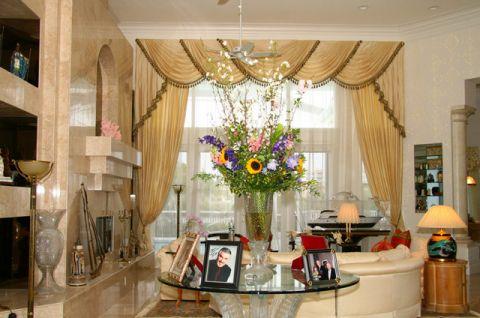优雅时尚简欧风格客厅装修效果图