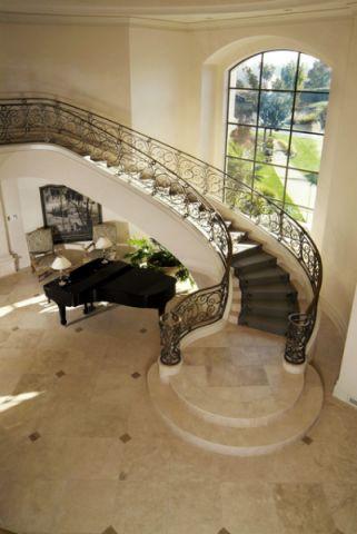 玄关楼梯简欧风格装修设计图片