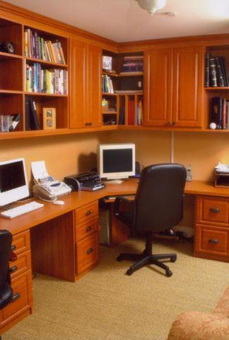 书房橱柜简欧风格装饰设计图片