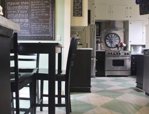 厨房橱柜简欧风格装潢效果图