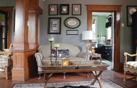 客厅门厅简欧风格装修效果图