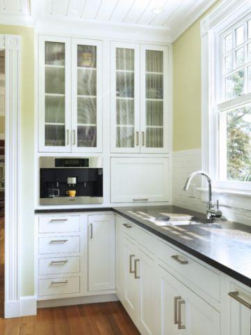 厨房白色吊顶简欧风格装潢效果图