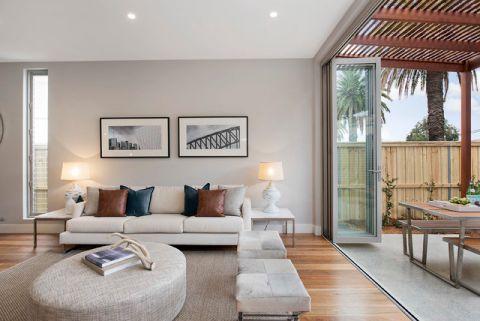 客厅白色照片墙简欧风格效果图