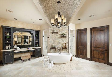 温暖简欧风格浴室装修效果图