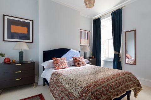 卧室黑色床头柜混搭风格装修效果图