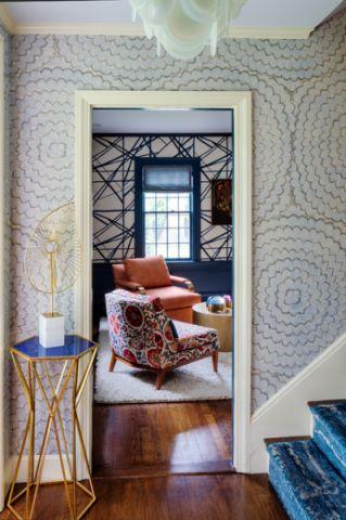 玄关米色背景墙混搭风格效果图