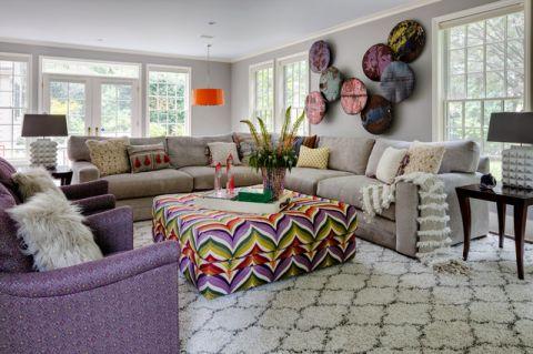 客厅彩色细节混搭风格装修效果图