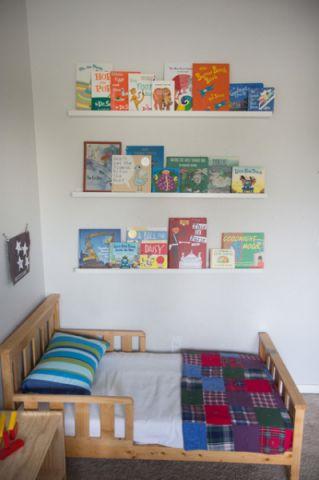 儿童房黄色床混搭风格装潢图片