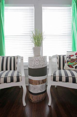 客厅白色窗台混搭风格装修图片