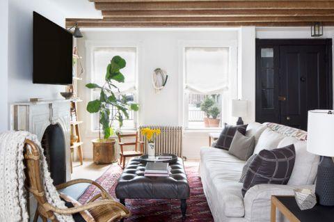 客厅白色门厅混搭风格装饰效果图