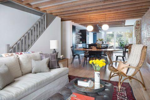 客厅灰色楼梯混搭风格装饰图片