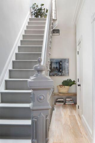 客厅灰色楼梯混搭风格效果图