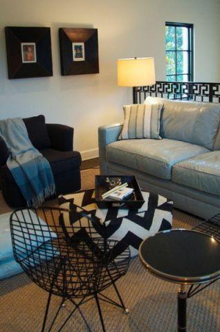客厅灰色沙发混搭风格装饰效果图