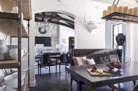 厨房白色背景墙混搭风格装潢效果图