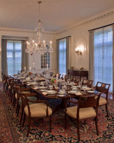 餐厅黄色餐桌混搭风格装修效果图
