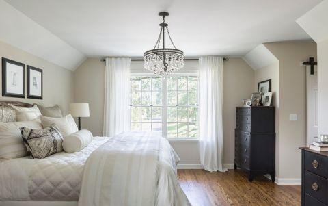 卧室白色背景墙混搭风格装饰设计图片
