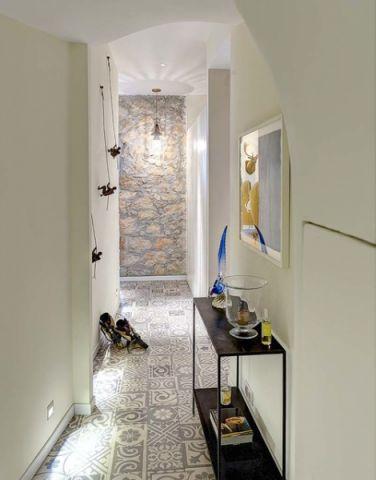 玄关米色走廊混搭风格效果图