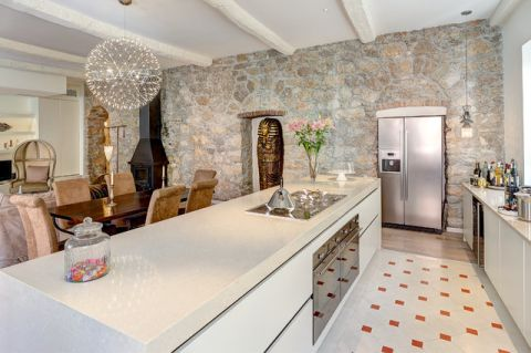 厨房白色吊顶混搭风格装饰效果图