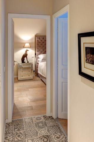 卧室灰色走廊混搭风格装潢效果图