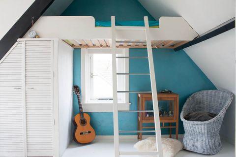 儿童房蓝色吊顶混搭风格装潢图片