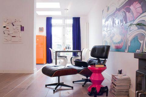 客厅照片墙混搭风格装潢效果图