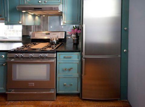 厨房细节混搭风格装潢图片