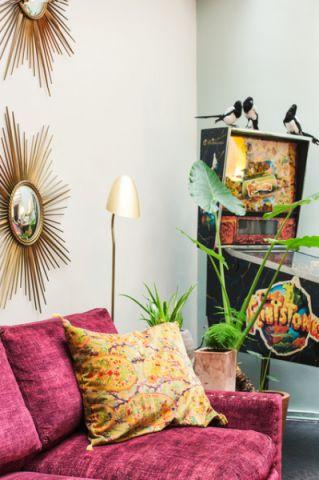 客厅背景墙混搭风格装饰设计图片
