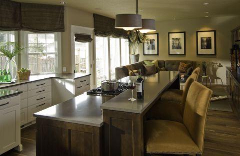 客厅餐桌混搭风格装饰图片