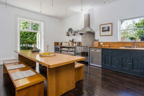 厨房背景墙混搭风格装潢设计图片