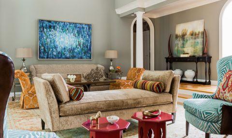 客厅门厅混搭风格装潢设计图片