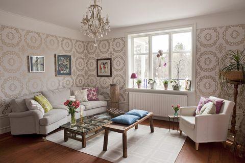 浪漫迷人混搭风格客厅装修效果图