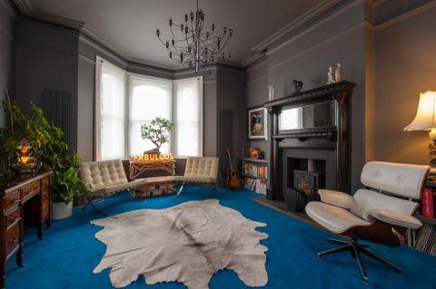 客厅背景墙混搭风格装潢效果图