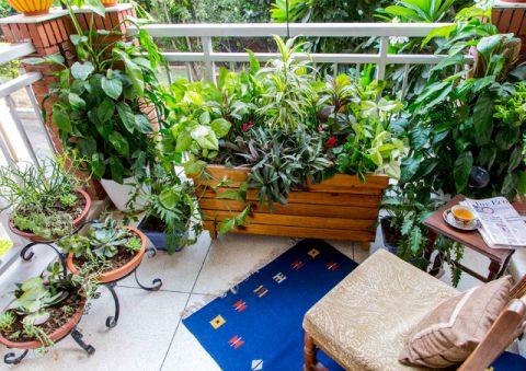 阳台橱柜混搭风格装潢效果图