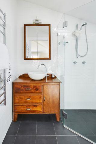 温馨舒适混搭风格浴室装修效果图_土拨鼠2017装修图片大全