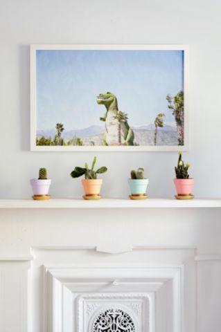 客厅白色照片墙混搭风格装修设计图片