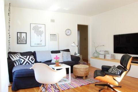 客厅白色细节混搭风格装饰效果图