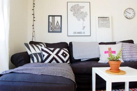 客厅白色细节混搭风格装潢效果图