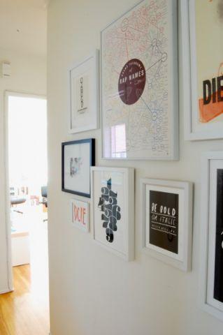 白色照片墙混搭风格装潢设计图片