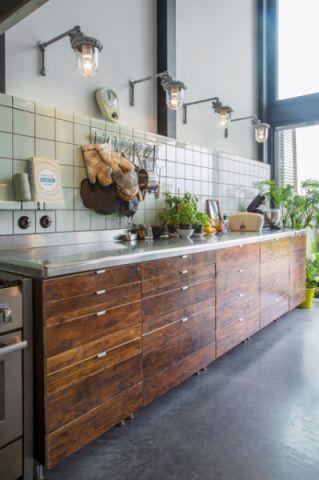 典雅混搭风格厨房装修效果图