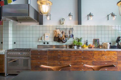 厨房灰色橱柜混搭风格装饰图片