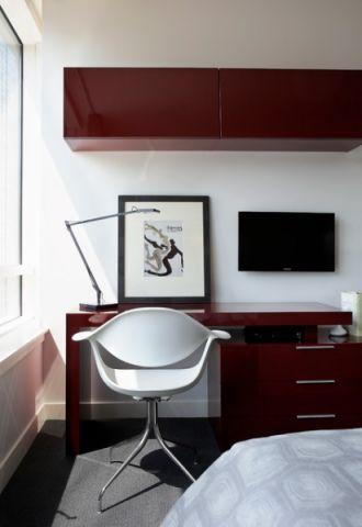 书房白色细节现代风格效果图