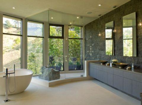 卫生间黄色细节现代风格装饰图片